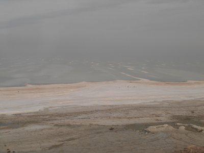 Beautiful Lake Orumiyeh in Iran.