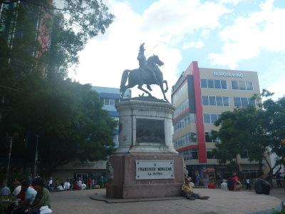 Morazan Statue in Tegucigalpa.