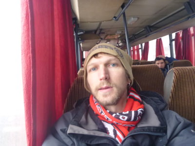 On the bus from Brasov to Bran.