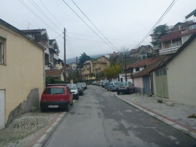 City Hostel Skopje is on this quiet street just 10 minutes walk from the centre of the city.