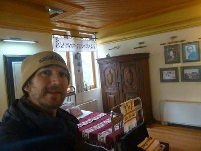 Touring Mother Teresa's Memorial House in Skopje, Macedonia.