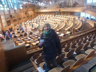 Inside the Scottish Parliament.