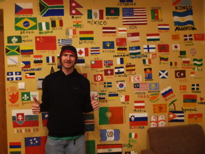 The World Wall of Flags at the Monk's Bunk.