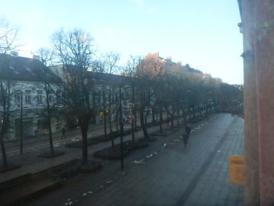 View from my room over Laisves Aleja in Kaunas.