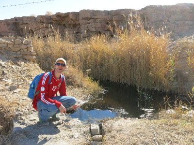 The swamp and desert Oasis at Khalate Talkh