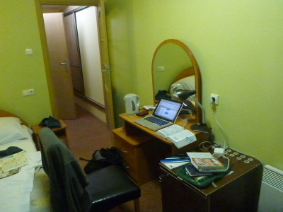 My WiFi desk and work station in Siauliai, Lithuania