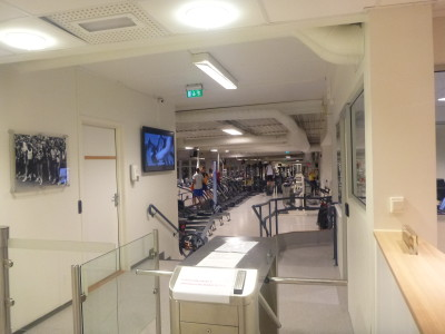 Gym and fitness centre at Olympiatoppen Sports Hotell