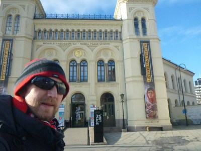 Outside the Nobel Peace Prize Centre