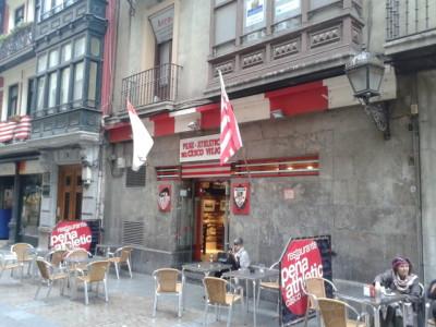 An Athletic Club Bilbao bar in town