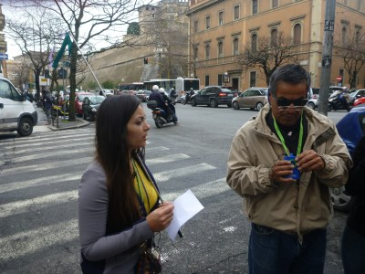 Our guide for the Vatican City tour, Elisa
