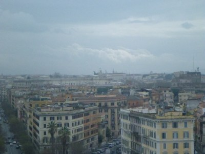 Rome, Italy viewed from the Vatican City State