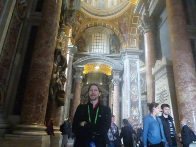 Inside St. Peter's Basilica, Vatican City State - the largest church in the world.