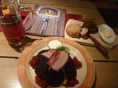 My meal at Kuldse Notsu Kovts