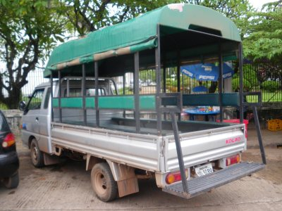 Our truck in Vientiane