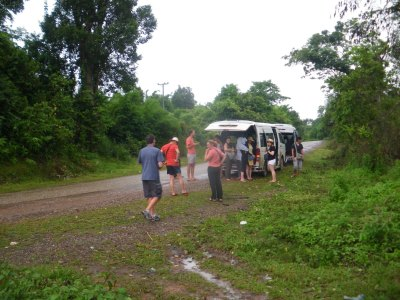 Backpacking in Laos: VientianeAThe other mini-bus breaks down to Phon Hong to Vang Vieng