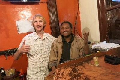 Friendly staff at Atelefugne Hostel in Addis Ababa