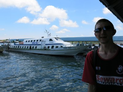 Arrival into Brunei by boat from Malaysia
