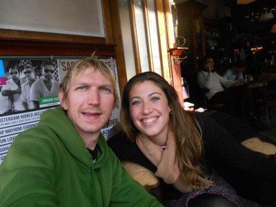 Caroline and I in Cafe Stevens