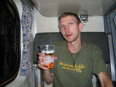Back to Malaysia with a beer on the train