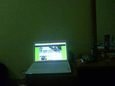 Blogging from my bedroom at the Golden Inn - no problems!