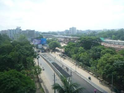 Views from the top floor of Golden Inn, Chittagong