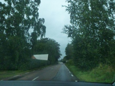 The drive with Daniel from Angelholm in Sweden to Ladonia