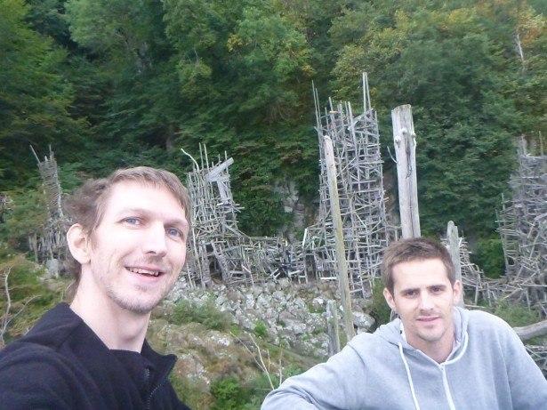 Daniel and I at Nimis, Ladonia