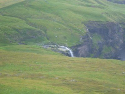 A view back to the waterfall near Bour from Liksteinur
