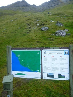 The sign at the end of the hike