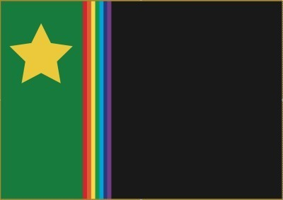 The flag of the People's Republic of Podjistan