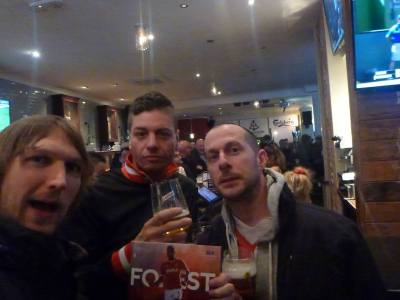 Mark, Lee and I pre match