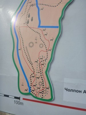 The two suggested walking routes