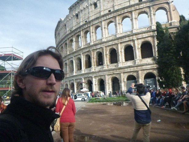 Touring the Colosseum in Rome