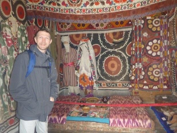 Touring the Madrasa at Hisor