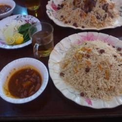 Friday's Featured Food: Pilov in Horam Restaurant Haibak, Samangan, Afghanistan
