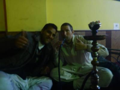 Reza and I in the Shisha House