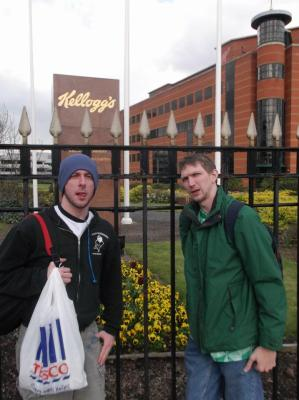 Lee and I at the Kelloggs Factory, Manchester