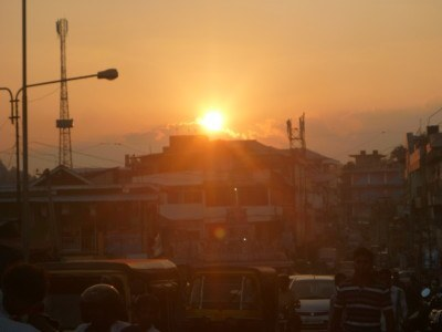 Sunfall in MY town