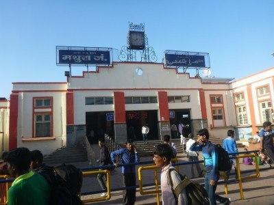 Mathura train station, India