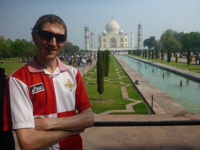 First glimpse of the Taj Mahal, in city 800