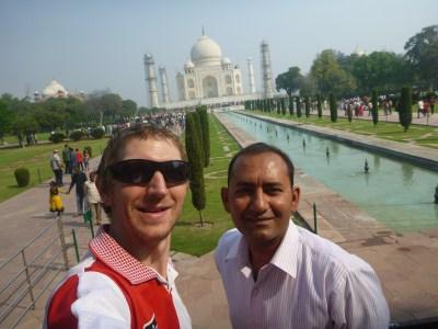 Akshay and I at the Taj Mahal, Agra, India
