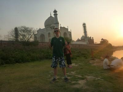 Sunset at the Taj Mahal