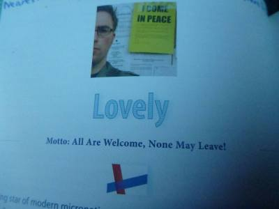 The Kingdom of Lovely was in Bow. Source: Lonely Planet - Micronations