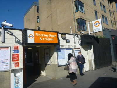 Finchley Road and Frognal overground orange line station