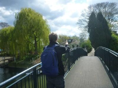 Crossing the Bridge to the Famous Eel Pie Island