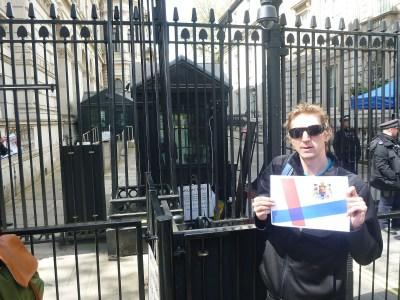 Jonny Blair at Ten Downing Street, Whitehall