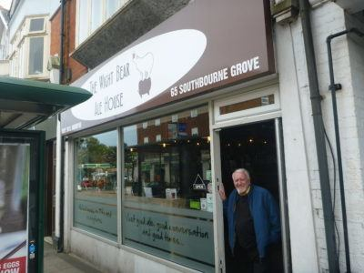Ron outside the White Bear in Southbourne