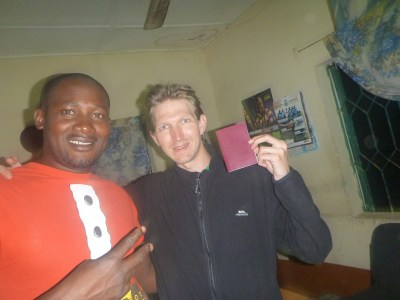 Arrival in the Gambia - Suliman and I