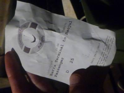 Ferry ticket Barra to Banjul