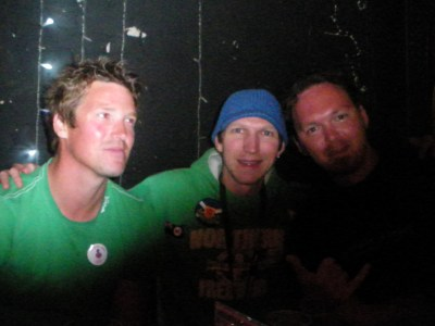 Hayden, myself and Paul in Christchurch, New Zealand in 2010